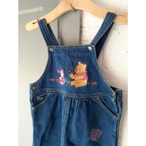 Vintage Disney Winnie the Pooh Patches Overalls
